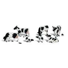 Woodland Scenics HO Black & White Cows # 1863
