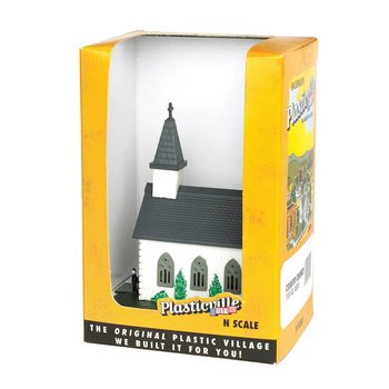 Bachmann N Built-Up Country Church # 45815