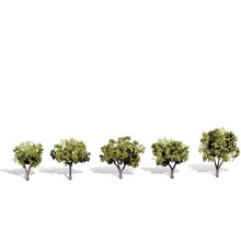 "Woodland Senics Classic Trees Early Light pkg(5) 1-1/4 to 2""  3.7 to 5.1cm Tall # 3546"