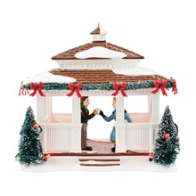 Department 56 Snow Village 40th Anniversary Gazebo # 4050978