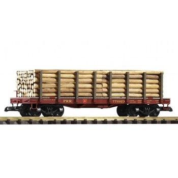 PIKO G PRR Flatcar with Log Load  # 38720