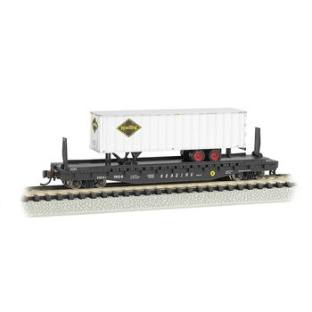 Bachmann N Reading Flat Car with Trailer # 16754
