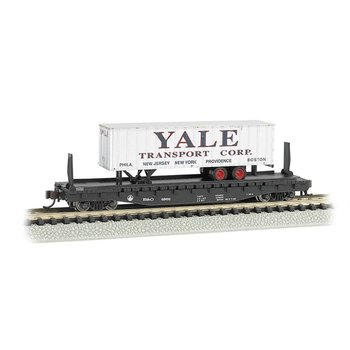 Bachmann N Altantic Coast Line Flat Car with Trailer # 16755