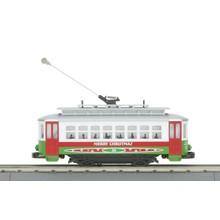 MTH O-27 Bump-n-Go Trolley Christmas # 30-5146