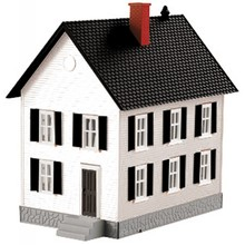 MTH O Row House #1 - White w/Black Shutters # 30-90338
