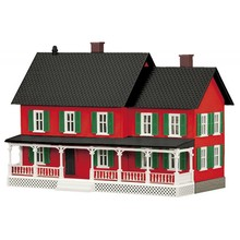 MTH O Country House #4 Red / Green 30-90513