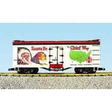 "USA G Santa Fe ""Chief Way"" White/Red Refrigerator Car # R16003"