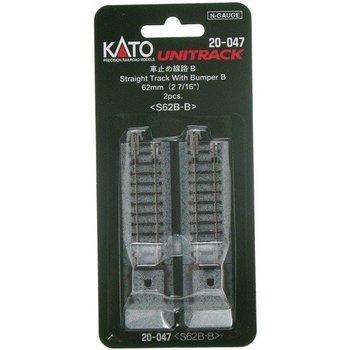 Kato N 20-047 (62MM) Straight Track Bumper (2)