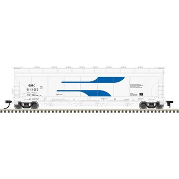 Atlas HO Green Mountain Railroad # 51421 ACF Pressureaide Hopper # 20003768