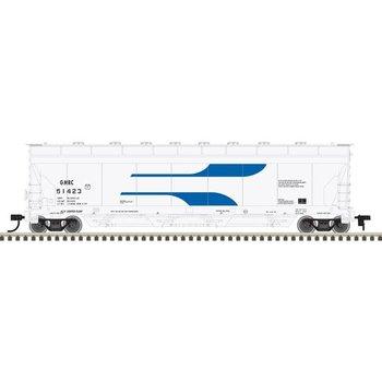 Atlas N Green Mountain Railroad #51423 ACF Pressureaide hopper # 50002706