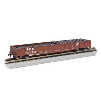 Bachmann HO Pennsyvaina 50' Drop end Gondola with Tire Load # 71912