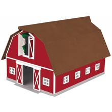 MTH O Barn Red with Brown Roof # 30-90502