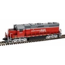 Atlas N DC Vermont Railway GP-38 low Nose # 207 Loco # 40002742