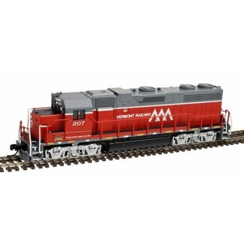 Atlas N DC Vermont Railway GP-38 low Nose # 207 Loco # 40002742
