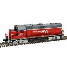 Atlas N DC Vermont Railway GP-38 low Nose # 206 Loco # 40002741