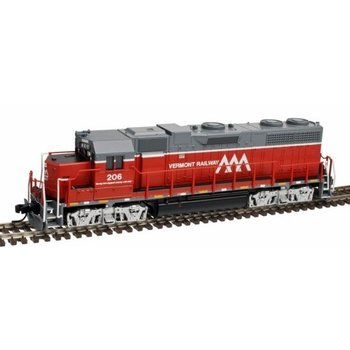 Atlas N DC Vermont Railway GP-38 low Nose # 206 Loco # 40002741
