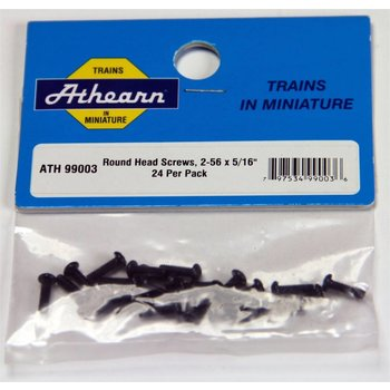 "Athearn Round Head Screw, 2-56 x 5/16"" (24) # 99003"