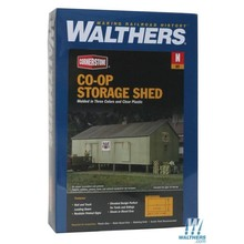 Walthers N Co-op Storage Shed Kit # 933-3230