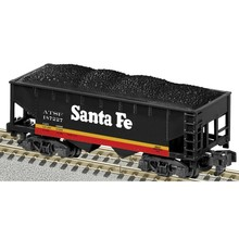American Flyer Trains S Santa Fe 2 Bay Hopper # 6-48637