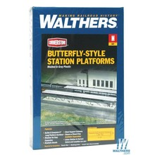 Walthers N Butterfly-stle Station Platform # 933-3258