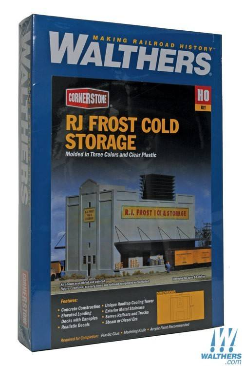 Walthers HO RJ Frost Cold Storage # 933-3020 & Walthers HO RJ Frost Cold Storage # 933-3020 - Trains on Tracks LLC.