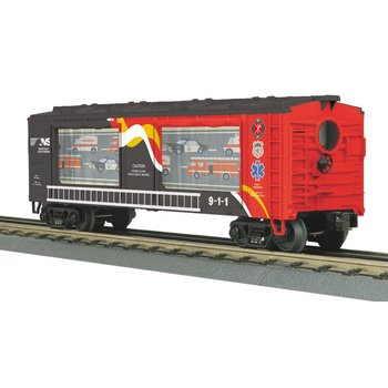 MTH O-27 Operating Action Car Norfolk Southern (First Responders) # 30-79526