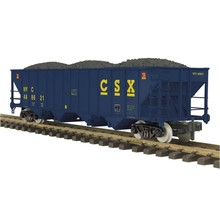 MTH G CSX (#488621) 4 Bay hopper with Coal load # 70-75070