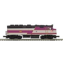 MTH O Scale Premier MBTA F40PH Diesel Engine # 1066 Proto-Sound 3.0 (Hi-Rail Wheels) # 20-20681-1