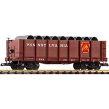 Piko G PRR High-Side Gondola w/Pipe Load # 38724