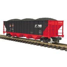 MTH G Norfolk Southern (#76612) First Responders 4 Bay hopper with Coal load # 70-75053