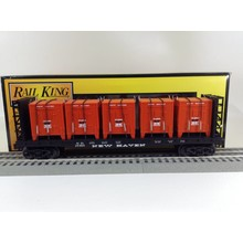 Used MTH O New Haven Flat w/ Bulkheads & LCL Containers # 30-76607