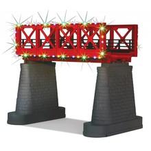 MTH O Girder Bridge & Operating Christmas Lights # 40-1116