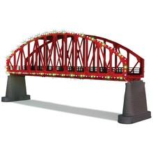 MTH O Steel Arch Bridge & Operating Christmas Lights # 40-1115