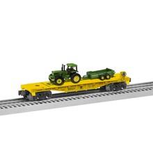 Lionel 027  John Deere Flatcar with Tractor load # 6-85321