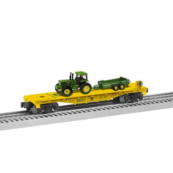 Lionel 027  John Deere Flatcar with Tractor load # 6-85321