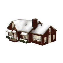 Lionel O Deluxe Christmas House Plug-Expand-Play  # 6-84795