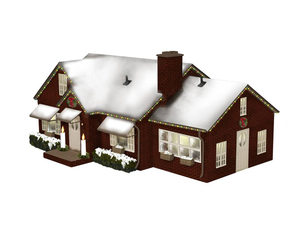 Lionel O Deluxe Christmas House Plug-Expand-Play # 6-84795 - Trains ...