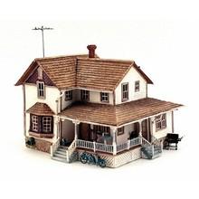 Woodland Scenics HO Bulit-up Corner Porch House # 5046
