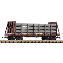 PIKO G Santa Fe Flat car with Pipe Load # 38738