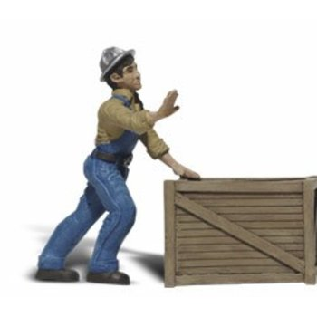 Woodland Scenic G Dock Worker w/Crate # 2523