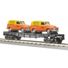 MTH Trains MTH 027 Transport Flat Car with Ertl Panel Vans # 30-7681 TOT93