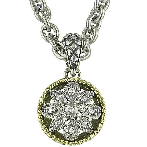 Andrea Candela Andrea Candela Diamond Circle Flower Pendant Necklace