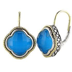 Andrea Candela Turquoise Clover Earrings