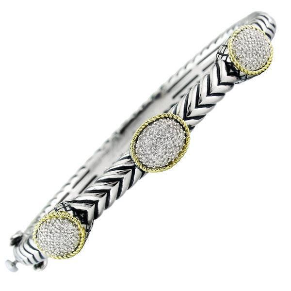 Andrea Candela ACB210 Diamond Station Bracelet
