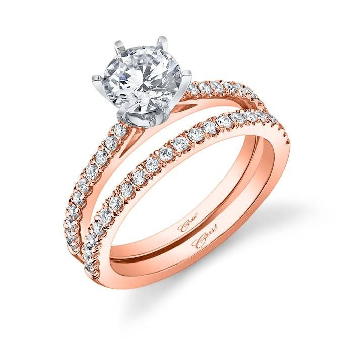 LC5250 Rose Gold Prong Setting