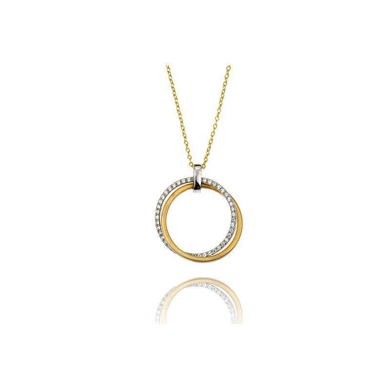 "IR3437Y ""Circle of Love"" Pendant Necklace"