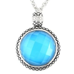 ACN107 turquoise pendant necklace
