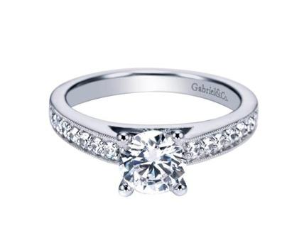 Gabriel & Co Gabriel ER3858  Tess Diamond Accent Engagement Ring
