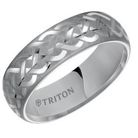 11-2128 Celtic Knot Tungsten Band