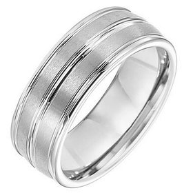 11-2890 white tungsten wedding band
